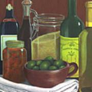 Wine Bottles And Jars Art Print