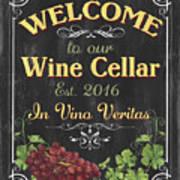 Wine Cellar Sign 1 Art Print