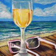 Wine Ding Down Art Print