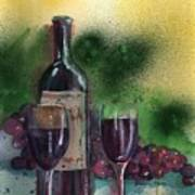 Wine For Two Art Print by Sharon Mick