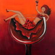 Wine-ing Woman Print by Preethi Mathialagan