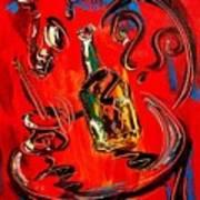 Wine Jazz Art Print