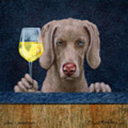 Wine-maraner Art Print
