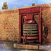 Wine Press Near Narbonne France Dsc01630 Art Print