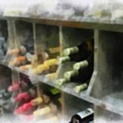 Wine Rack Mixed Media 01 Art Print