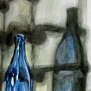 Wine Rack Shadows Art Print