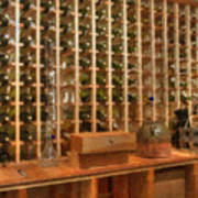 Wine Rack Vineyard Fermentation Art Print