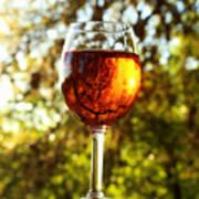 Wine Reflections Square Art Print