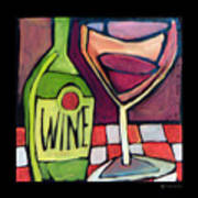 Wine Squared Art Print