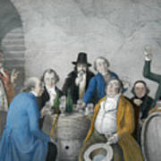 Wine Tasters In A Cellar Art Print