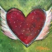 Winged Heart Number 1 Art Print
