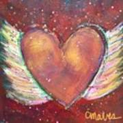 Winged Heart Number 2 Art Print