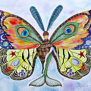 Winged Metamorphosis Art Print by Lucy Arnold