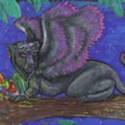 Winged Panther Kitten Cub Art Print