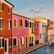 Wingin It In Venice Art Print