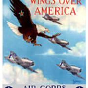 Wings Over America - Air Corps U.S. Army Art Print