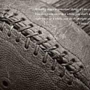 Winning Quote From Vince Lombardi Art Print