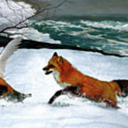 Winslow Homer's, 1893 ' The Fox Hunt ', Revisited 2016 Art Print