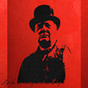 Winston Churchill - A Joke Is A Very Serious Thing Art Print