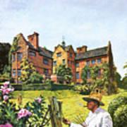 Winston Churchill Painting At Chartwell Art Print