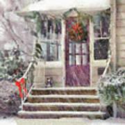 Winter - Christmas - Silent Day  Art Print