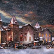 Winter - Clinton Nj - Silent Night  Art Print