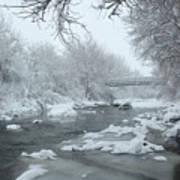 Winter Along Clear Creek Art Print