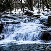 Winter At Mill Creek Falls No. 1 Art Print