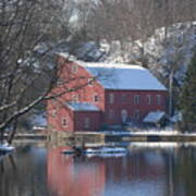 Winter At The Clinton Mill Art Print