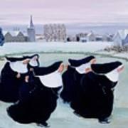Winter At The Convent Art Print