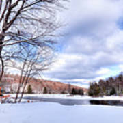 Winter At The Dam Art Print