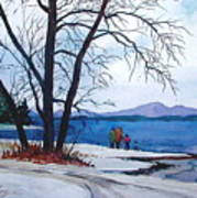 Winter At The Lake Art Print
