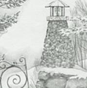 Winter At The Lake Art Print