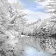 Winter At The Reservoir Art Print