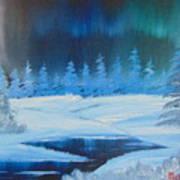 Winter Aurora Art Print