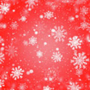 Winter Background With Snowflakes. Art Print