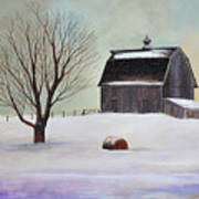 Winter Barn II Art Print