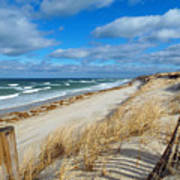 Winter Beach View Art Print