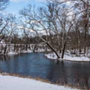 Winter Blue James River Art Print