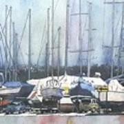 Winter Blues, Sal Boats, Boating Paintings, Boat Paintings, Boat Prints Art Print