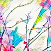 Winter Branch Colors Art Print