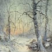 Winter Breakfast Art Print