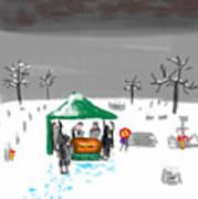 Winter Burial Art Print