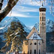 Winter Church In Bavaria Art Print