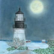 Winter Coast Art Print