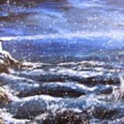 Winter Coastal Storm Art Print