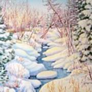 Winter Creek 1  Art Print