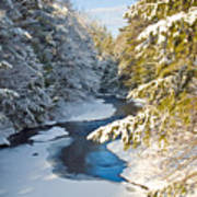 Winter Creek In Morning Light Art Print
