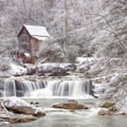 Winter Day At The Mill  Art Print