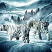Winter Deuces Print by Lourry Legarde